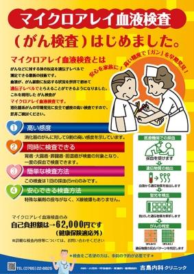 マイクロアレイ血液検査始(がん検査)はじめました。