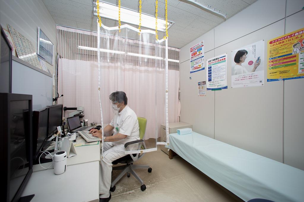 診察室のシールドカーテン