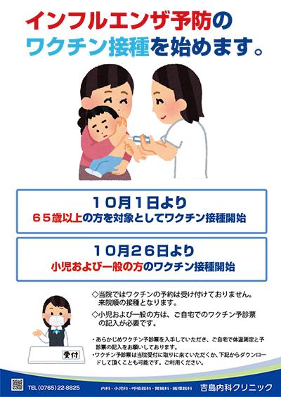 インフルエンザ予防ワクチン
